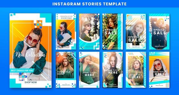 Modèle d'histoires de publication instagram sur les médias sociaux de vente créative