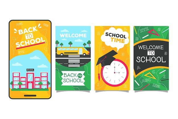Modèle d'histoires de retour à l'école