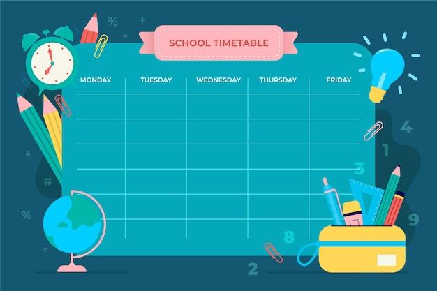 Modèle d'horaire de retour à l'école