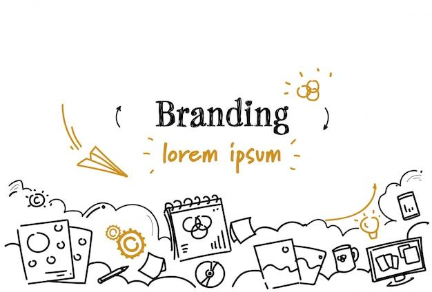 Modèle horizontal de marque développement créatif entreprise
