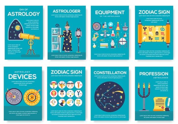 Modèle d'horoscope d'illustration flyear