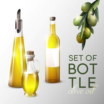 Modèle d'huile d'olive réaliste