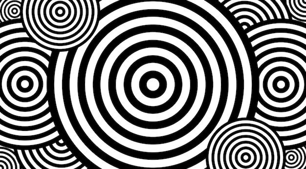 Modèle hypnotique avec conception de cercles vvector.