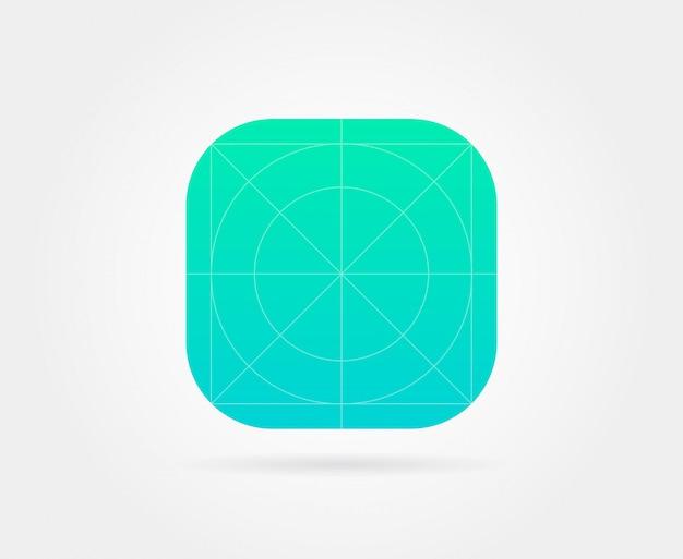 Modèle d'icône d'application avec des lignes directrices