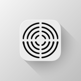 Modèle d'icône d'application de technologie blanche