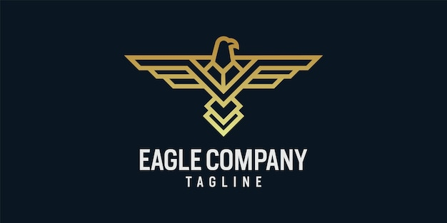 Modèle d'icône de conception de logo aigle