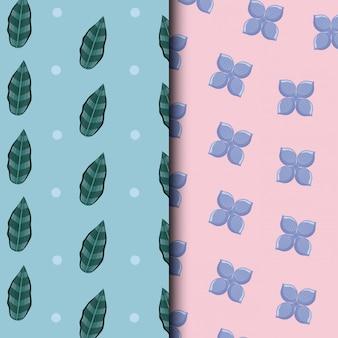 Modèle d'icône de feuilles tropicales
