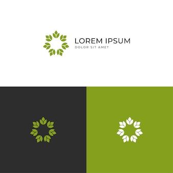 Modèle d'icône logo fleur