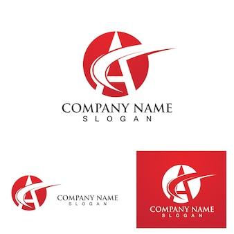 Un modèle d'icône de logo de lettre