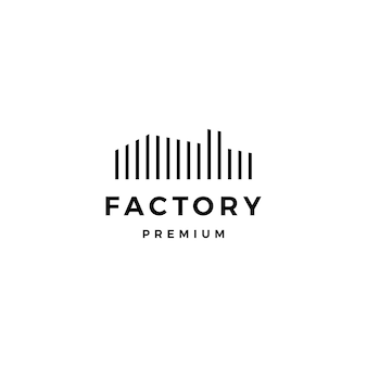 Modèle d'icône logo usine
