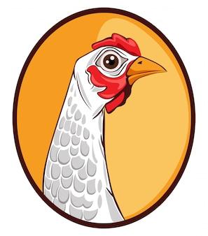 Modèle d'icône de poulet