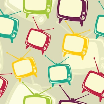 Modèle d'icône de télévision rétro