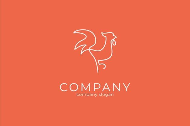 Modèle d'icône vecteur logo coq minimaliste moderne