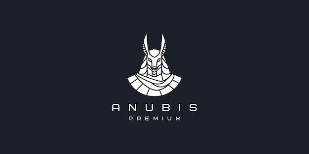 Modèle d'icône de vecteur de logo simple anubis