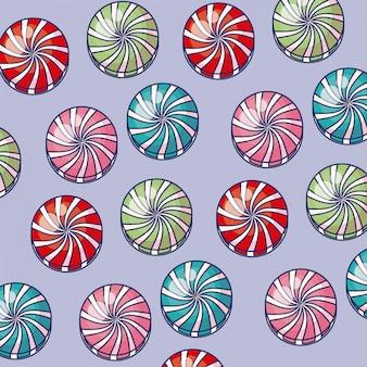 Modèle d'icônes bonbons sucrés