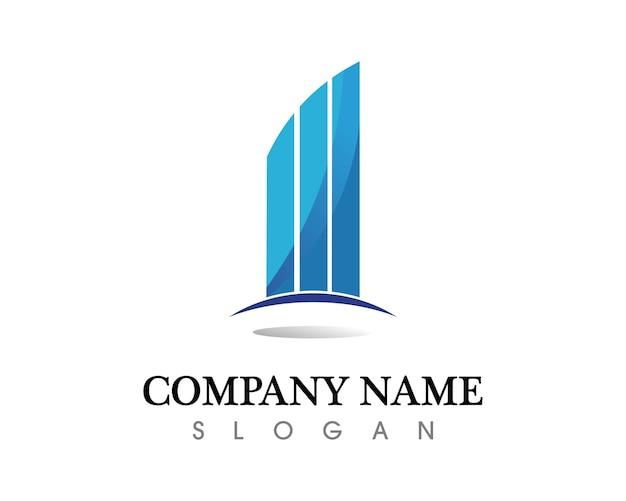 Modèle d'icônes logo immeubles immobiliers et à la maison