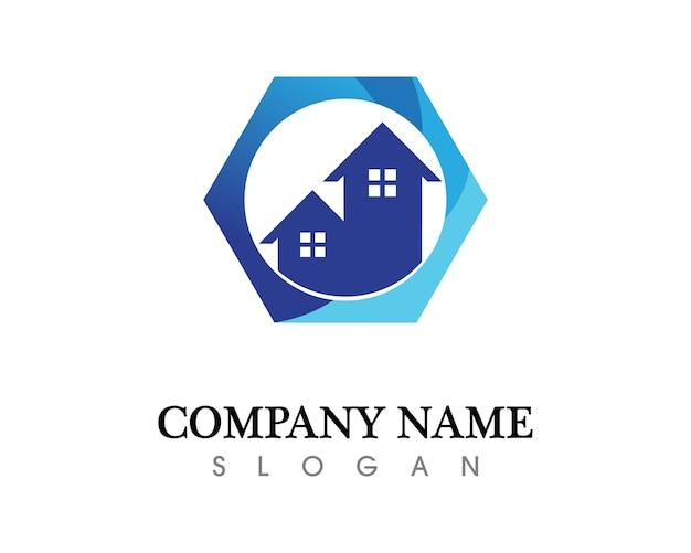 Modèle d'icônes logo immobilier et maisons