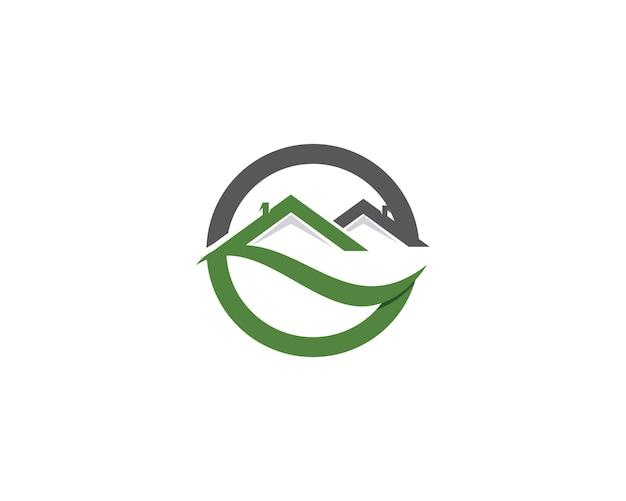 Modèle d'icônes logo et symboles de bâtiments