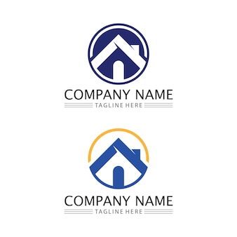 Modèle d'icônes de logo vectoriel maison et immobilier et bâtiments de maison