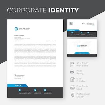 Modèle d'identité d'entreprise élégant