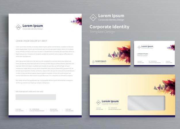 Modèle d'identité d'entreprise entreprise papeterie classique