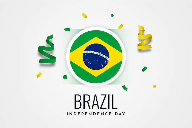 Modèle d'illustration de célébration de la fête de l'indépendance du brésil