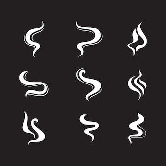 Modèle d'illustration de conception d'icône de vecteur de fumée