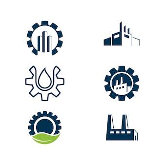 Modèle d'illustration de conception d'icône de vecteur de l'industrie