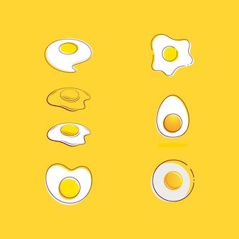 Modèle d'illustration de conception d'icône de vecteur d'oeuf délicieux
