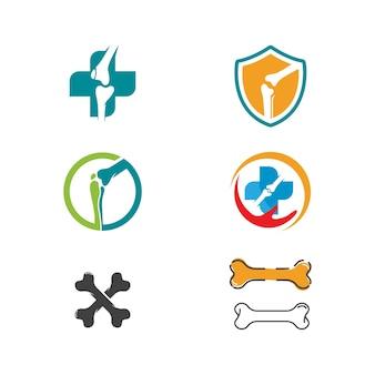 Modèle d'illustration de conception d'icône vecteur orthopédique