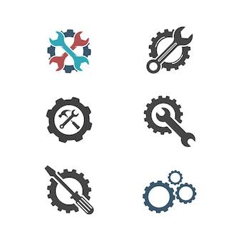 Modèle d'illustration de conception d'icône de vecteur d'outil