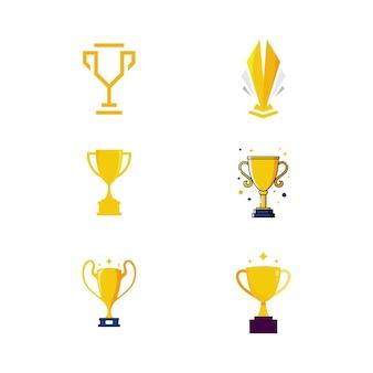 Modèle d'illustration de conception d'icône de vecteur de trophée