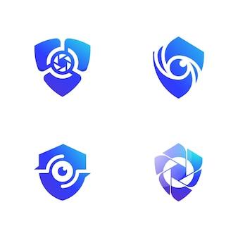 Modèle d'illustration de conception d'icône de vecteur de vidéosurveillance