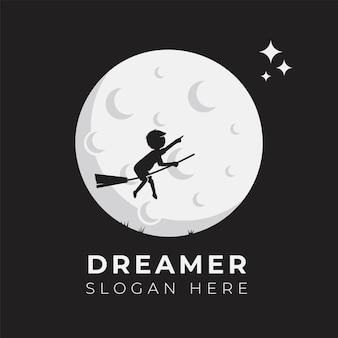 Modèle d'illustration de conception de logo enfant rêve