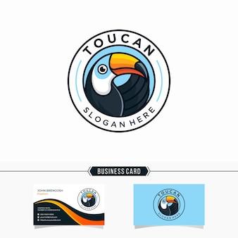 Modèle d'illustration de conception de logo toucan moderne
