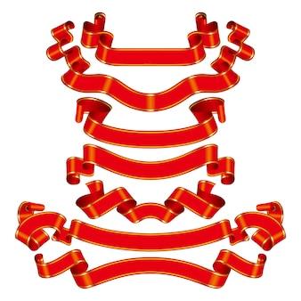 Modèle d'illustration de conception ruban titre vector