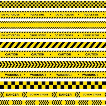 Modèle d'illustration de conception de vecteur de police de ligne d'avertissement