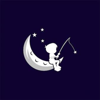 Modèle d'illustration de dessin vectoriel rêve enfant