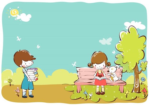 Modèle d'illustration enfants clipart vectoriel