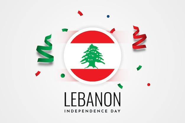 Modèle d'illustration de la fête de l'indépendance du liban