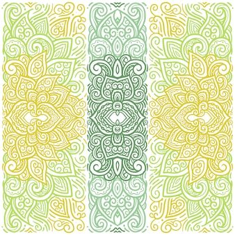 Modèle d'illustration de fond mandala coloré oriental