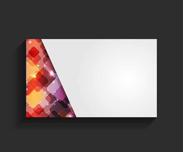 Modèle d'illustration vectorielle de carte de visite