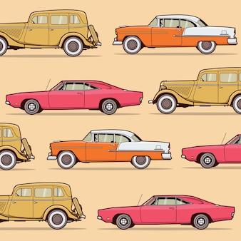 Modèle d'illustration vectorielle de voiture classique