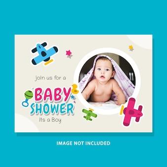Modèle d'illustrations de conception de douche de bébé.