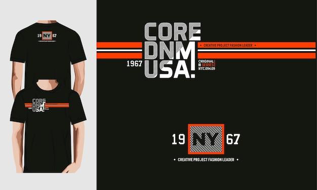 Modèle d'impression de conception de t-shirt core denim usa.