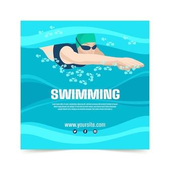 Modèle d'impression de cours de natation
