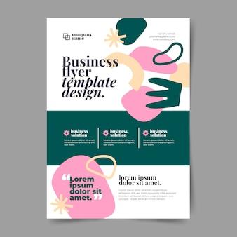 Modèle d'impression d'entreprise abstraite avec des formes de conception plate