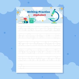 Modèle d'impression de traçage alphabet
