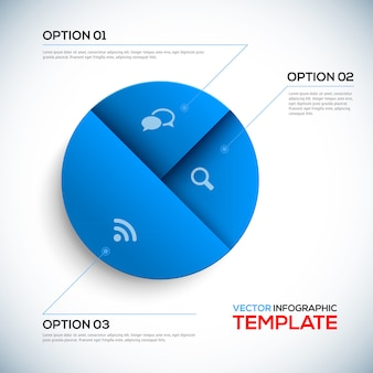 Modèle d'infographie 3d abstrait