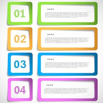 Modèle d'infographie à 4 options
